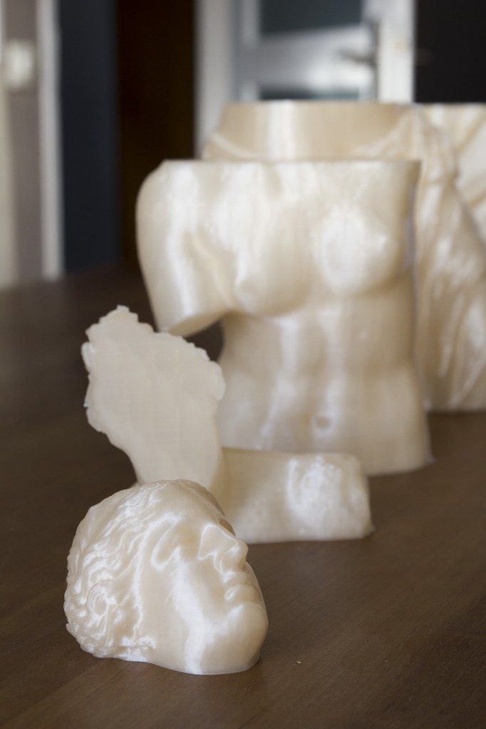 Venus de Milo in seperate parts, ready for assembly.