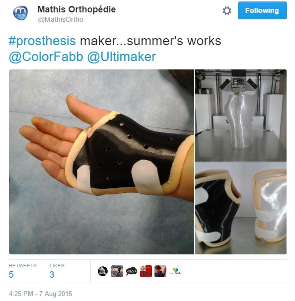 Prosthetic prototypes - Learn ColorFabb